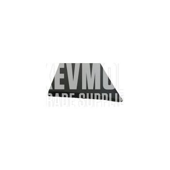 Reducer/Diminishing Strip 8mm Black PVC