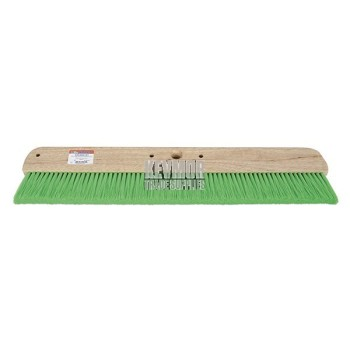 "Kraft 24"" Green Nylex Soft Finish Broom W/O Handle"
