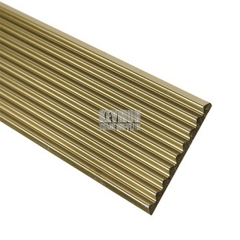 Flat Fluted Stair Tread 40mm Gold