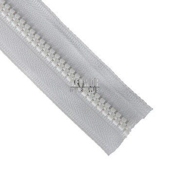 Zip No5 Moulded Continuous Chain 100m White