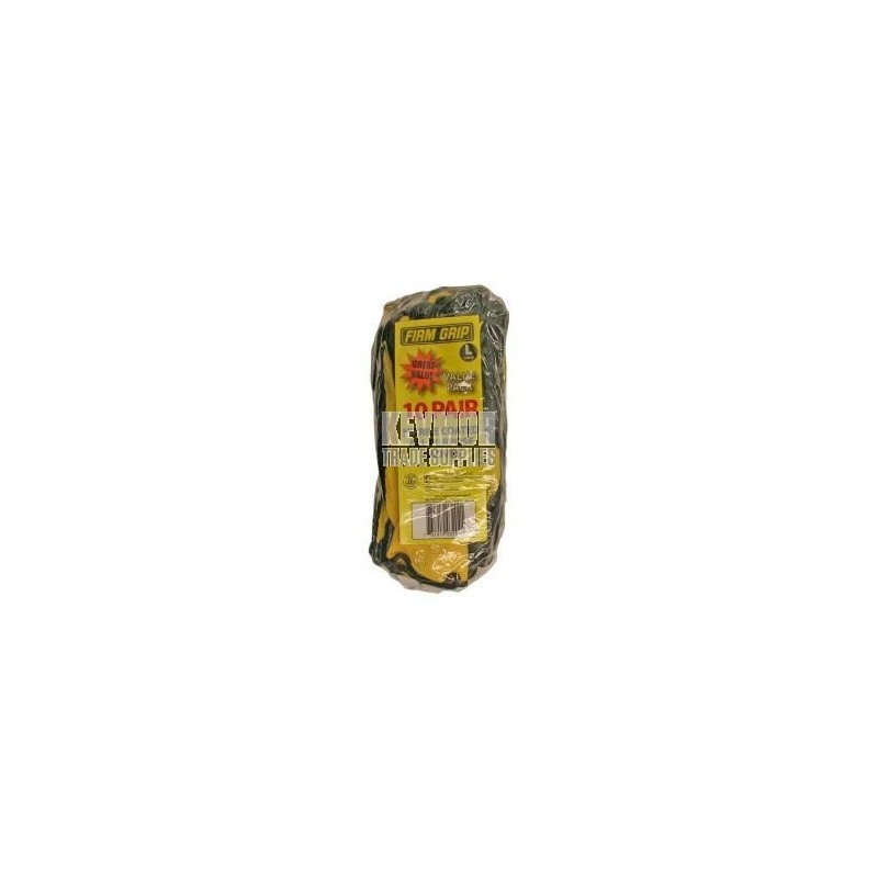 Gloves Firm Grip Large Nitrile Coated General Purpose