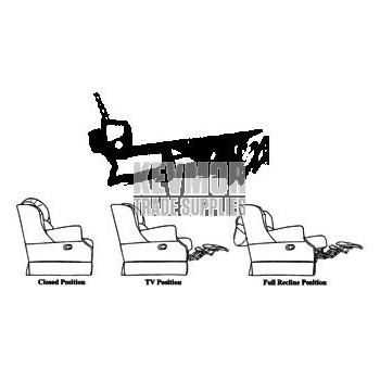 5114 Theater Seating Incliner Mechanism