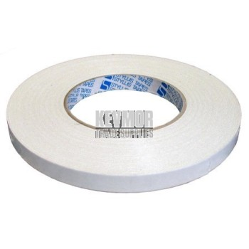 Tape 12mm Double Sided Cloth Tape - Premium - Carpet - 25m per roll.