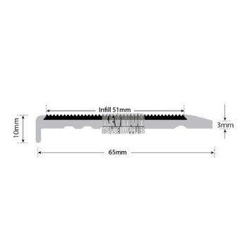 UFS65-3SN Premium Stair Nosing for Carpet 10mm