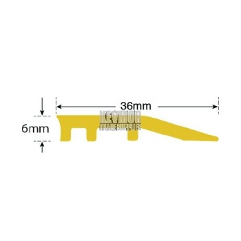 IFB 36RS 6mm Carpet Reducer Strip