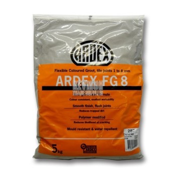 Ardex FG8 Grout 5kg - Charred Ash 10085