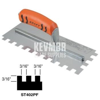 ST402PFCC Square Notch Trowel w/-Proform Handle