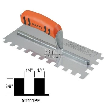 ST411PF Square Notch Trowel w/Proform Handle