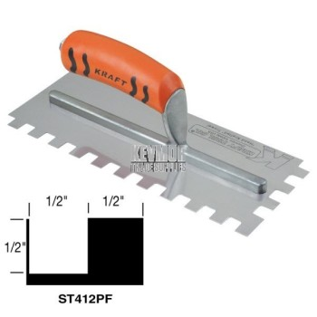 ST412PF Square Notch Trowel w/Proform Handle