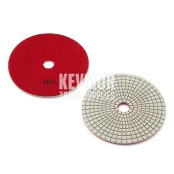 "100 Grit Polishing Pad 5"" - Pro Series 400 RED Diamond"