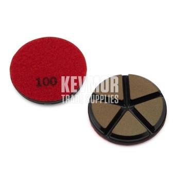 "3"" Ceramic Disc 100 Grit - RED Diamond"