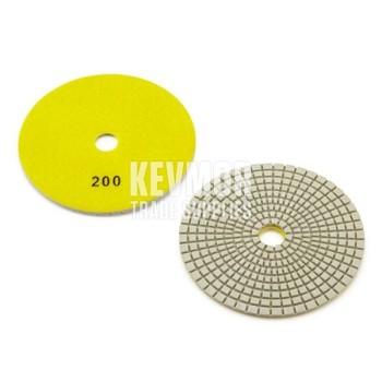 "5"" Polishing Pad 200 Grit - Pro Series Dark Yellow Diamond"