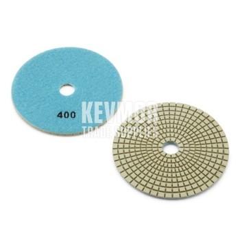 "5"" Polishing Pad 400 Grit - Pro Series BLUE Diamond"