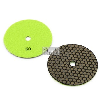 "5"" Honeycomb Polishing Pad 50 Grit - Trade Series LIGHT YELLOW Diamond"