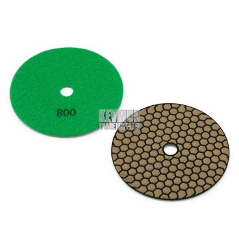 "5"" Honeycomb Polishing Pad 800 Grit - Trade Series GREEN Diamond"
