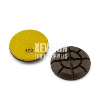 "3"" Resin Pad 100 Grit - Pro Series YELLOW Diamond"
