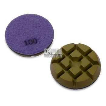 "3"" Resin Pad 100 Grit - Trade Series PURPLE Diamond"