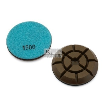 "3"" Resin Pad 1500 Grit - Pro Series LIGHT BLUE Diamond"