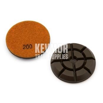 "3"" Resin Pad 200 Grit - Pro Series ORANGE Diamond"