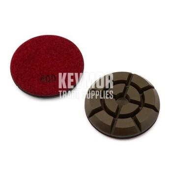 "3"" Resin Pad 400 Grit - Pro Series RED Diamond"