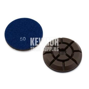 "3"" Resin Pad 50 Grit - Pro Series DARK BLUE Diamond"