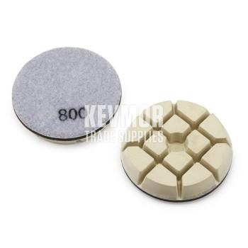 """3"""" Resin Pad 800 Grit - Trade Series WHITE Diamond"""