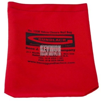 """Nail Bag with 3/4"""" Velcro closure RED 133R Beno"""