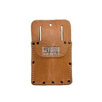Leather Knife Pouch 354-BG with Large Pocket & Flap - Beno Gundlach