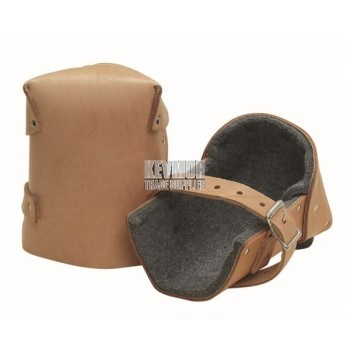 """1"""" Thick Felt Leather Knee Pads (Pair)"""