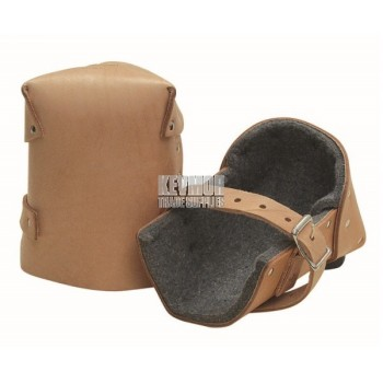 """1/2"""" Thick Felt Leather Knee Pads (Pair)"""