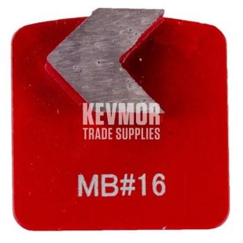 16 Grit Redilocks 100 Medium Bond Red single arrow