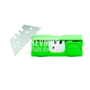 Green Box 50mm Straight HD Blades 20 pc dispenser Janser
