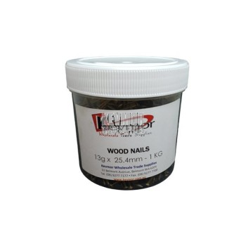 Wood Nails 25.4mm 1kg jar