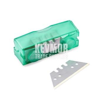 Green Box Titan Coated Straight Blades 20 pc dispenser Janser