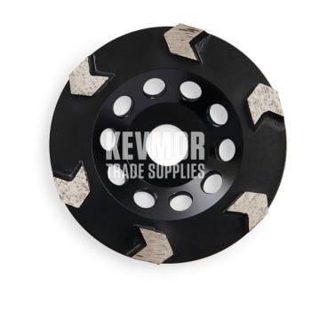 30 Grit Soft - 6 Arrow Segment - 125mm Diamond Cup Wheel