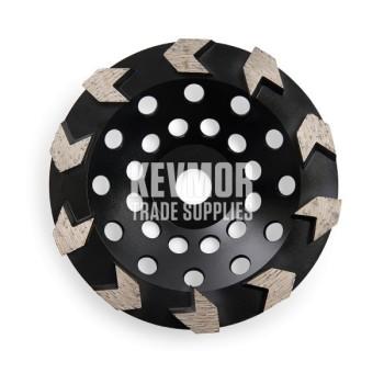 30 Grit Soft - 10 Arrow Segment - 125mm Diamond Cup Wheel