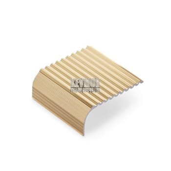 SFS505G - Sawtooth Fluted Bullnose Stair Nosing 21mm Gold