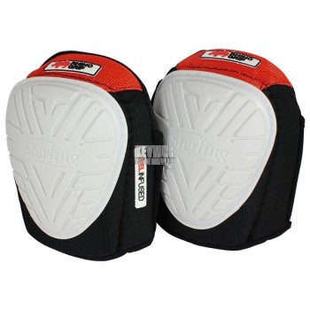 Sterling 18-530 - Flexible Gel White Rubber Cap Knee Pads