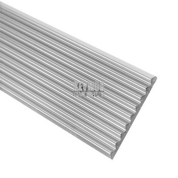 Flat Fluted Stair Tread 40mm Silver