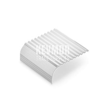 SFS505 - Sawtooth Stair Nosing 21mm Silver