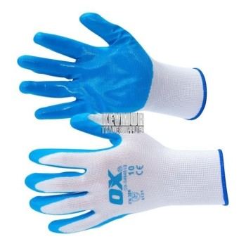 OX Polyester Lined Nitrile Glove - 5 pack (size 10)