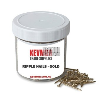 Ripple Trim Nails - Gold (Drive Screw) 1kg Jar