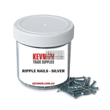Ripple Trim Nails - Silver