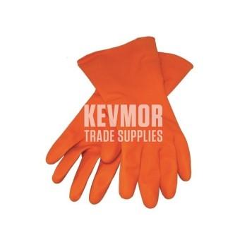 Rubber Gloves Orange Latex Kraft GG426