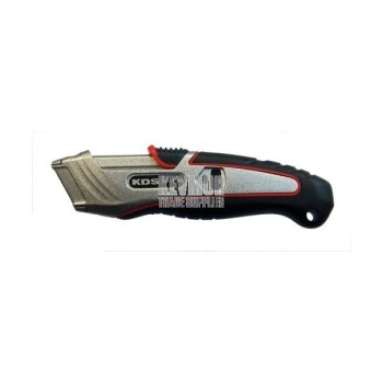 KDS Safety Utility Knife SA-12BS Safety Metal Auto Retract EVO with 5 blades