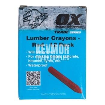 OX Lumber Crayons 12pk - Red