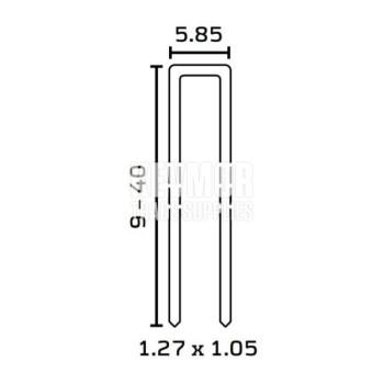 Staples 90/30mm NKH HZ (3000 per box)