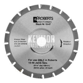 20-Tooth Slimline Undercut Saw Blade 10-20T - Roberts