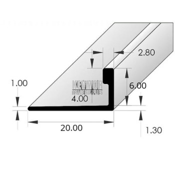 Ceramic Tile Angle Aluminium 6mm x 3m - Silver Bright Protective
